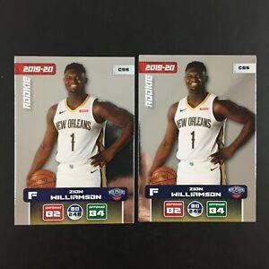 Zion Williamson Rookie Lot 2 Card NBA Panini 2019 2020 (19-20) C96 Adrenalyn XL