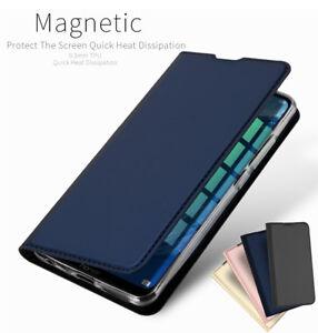 Pour-Huawei-Honor-8X-Cuir-PU-Clapet-Etui-Portefeuille-Smart-Magnetique-Housse