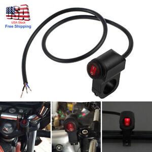 Motorcycle ATV Handlebar Headlight Fog Spot light 12V On Off Switch Waterproof