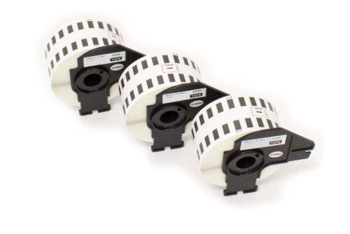 3 ROLLEN ETIKETTEN 38mm x 30.48m STANDARD für BROTHER P-touch QL-710 W