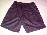 Mens Large Black Mesh Basketball Type Shorts Alleson Athletic