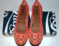 Lucky Brand Women's Edmonda Lace Ballet Flat Color Coral Size 7 M
