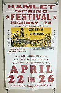 Vintage Original 1970s Hamlet Spring Festival Highway 74 ...
