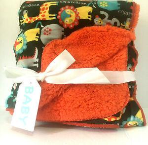 New Weegoamigo Baby Fleece Blanket Animals Lion Giraffe Monkey Hippo Baby
