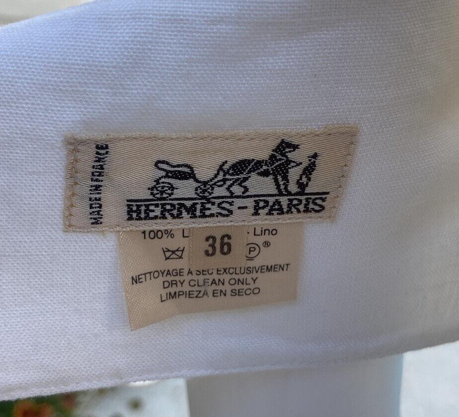Vintage Hermes Linen Suit 36 - image 6