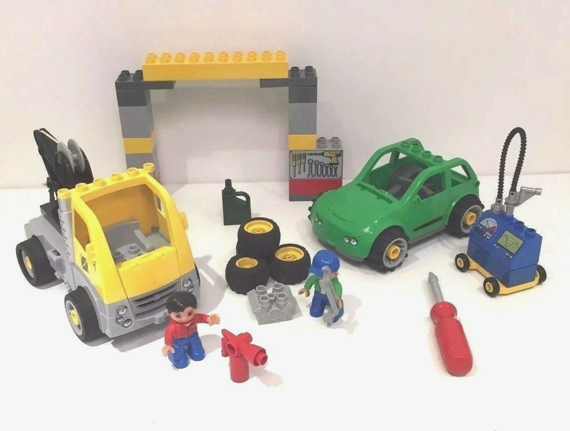 100% COMPLETE LEGO DUPLO CAR BUSY GARAGE FIGURES ACCESSORIES SET 5641