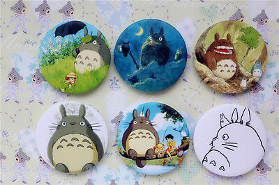 6PCS Japan Anime My Neighbor Totoro Cosplay Cute Button Pins Badges Brooches Set