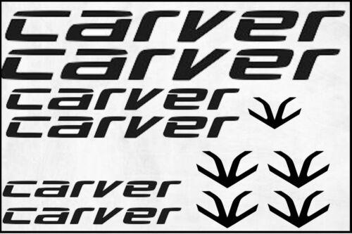 kompatibel CARVER Fahrrad MTB Rahmen Aufkleber Sticker Set