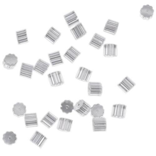 100x Ohrring-Sicherheits-Rückseiten-Ohrring-Stopper-Rückseite  ZP