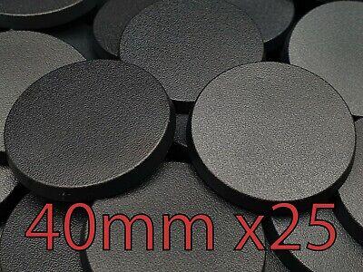 25mm x 25 pcs Round Plain Plastic Bases Warhammer AOS Infinity Brand New