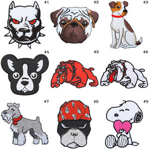 Pug Applique Iron On Sew On Small Patches Cut Out Dogs Black
