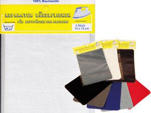 Jeansflicken zum Aufbügeln  ausbessern weiße  Bügelflicken  2 Stück/ Pack