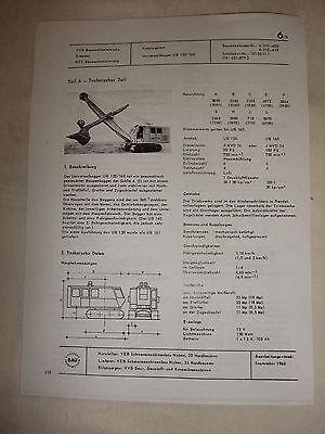 Sammeln & Seltenes Aufrichtig Ddr Werbung Reklame Prospekt Datenblatt Universalbagger Ub120/160 Veb Nobas 1968