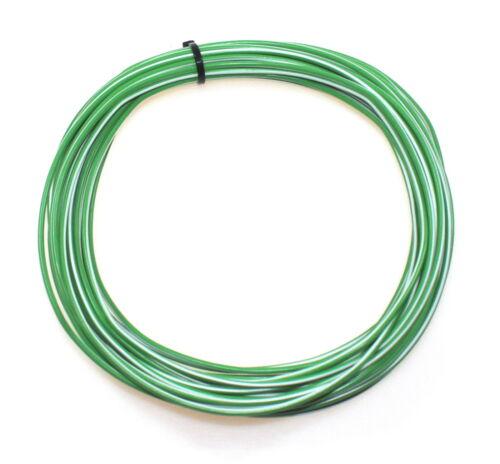 Cable para coche tubería galon flry 1,5mm² 10m blanco verde coche vehículo automóvil camiones Fly
