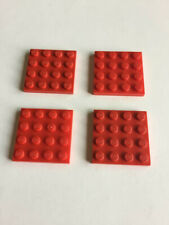 LEGO Lot of 4 Red 2x3 Plates with Propeller Rotor Pin