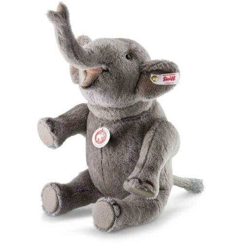 Steiff Nelly Elephant EAN 021688 11 inches Grey Alpaca NEW Gorgeous!