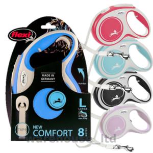 Flexi-New-Comfort-Dog-Lead-8m-Large-Tape-Retractable-Dog-Lead-New-2020-Model