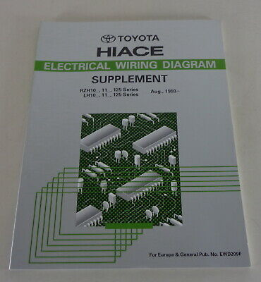 electrical wiring diagram electric toyota hiace since 08/1993  ebay