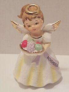 Lot-of-2-1950s-Flower-Girl-Angel-Figurine-VTG-Enesco-Napco-Extremely-Rare-Find