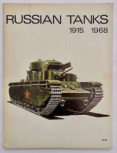 Russian Tanks 1915-1968 War Soviet Union Treads Gun Army Military 1970 Artillery