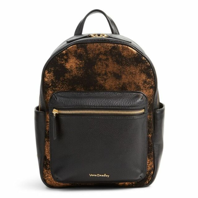 738e8b70c424 Vera Bradley Metallic Suede and Leather Leighton Backpack Bronze Age ...
