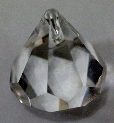 40mm 1 Swarovski Vintage GEM Shaped Pendant Bead Prism CRYSTAL CLEAR #8560 30mm