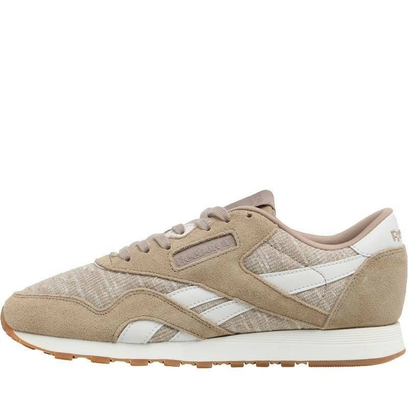 Size 6 Reebok Classics Womens Classic Nylon WR Trainers Canvas Chalk