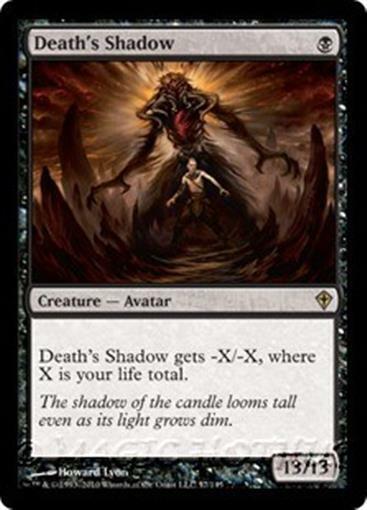 DEATH'S SHADOW Worldwake MTG Black Creature — Avatar RARE