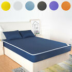 Waterproof Mattress Pad Protector Bed Fitted Sheet Cover Twin Full Queen King