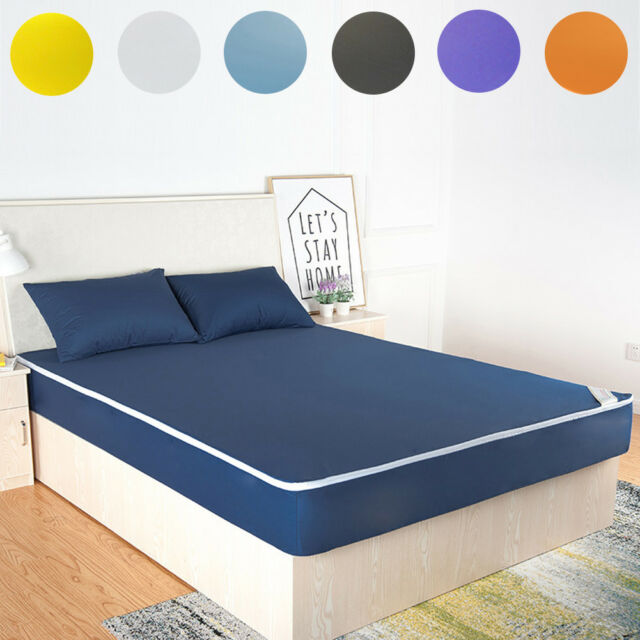 Waterproof Mattress Pad Protector Bed Fitted Sheet Cover Twin Full Queen King AU