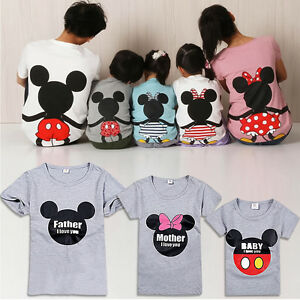 Mickey Mouse Family Matching Clothes Tops Dad Mom Boys ...