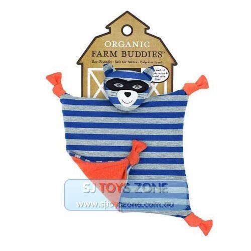 Organic Farm Buddy Robbie Raccoon Baby Blankie Comforter 100/% Organic Cotton Fab