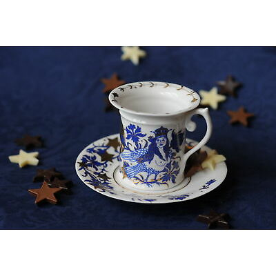 """Designer coffee pair """"Sirin and the Rider""""- coffee cup and a saucer"""