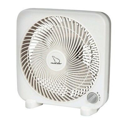 """POLAR AIRE 9/"""" Personal Box Fan 3 Speed Switch White Portable Cooling S-9PB NEW!!"""