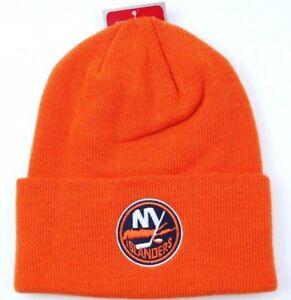 New York Islanders Reebok Face Off NHL Cuffed Knit Winter Hat Beanie ... 1fc75e1bde3