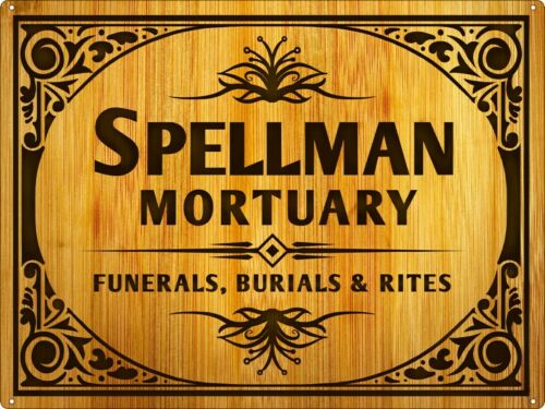 Tin Sign Spellman Mortuary 40.7x30.5cm