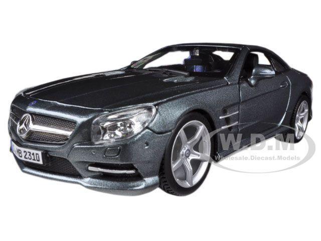MERCEDES SL 500 COUPE GREY 1/24 DIECAST MODEL CAR BY BBURAGO 21067