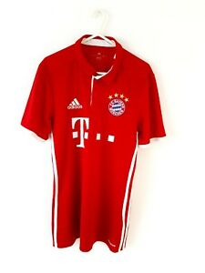 Bayern-Munich-Home-Shirt-2016-Small-Adults-Adidas-Red-Munchen-Football-Top-S