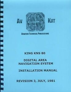 KING KNS 80 DIGITAL AREA NAVIGATION INSTALLATION MANUAL