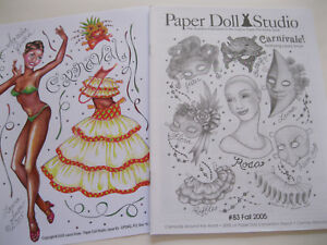 """Paper Doll Studio Magazine Issue #83 /""""CARNIVALE!/"""" from Fall 2005"""