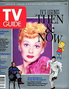 TV-Guide-Magazine-2000th-Issue-Lucille-Ball-EX-No-ML-051417nonjhe