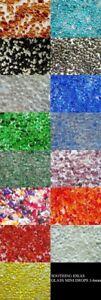 Verre Mini Galets 3-6 Mm Maison Jardin Mariage Craft Memorial 10 Couleurs P&p Inc-afficher Le Titre D'origine