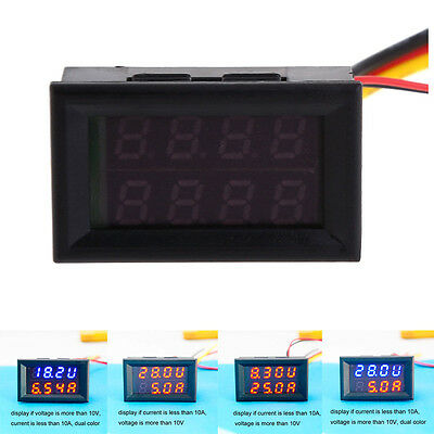 Dual DC 100A 100V LED Digital Ammeter Voltmeter LCD Panel Amp Volt Current Meter