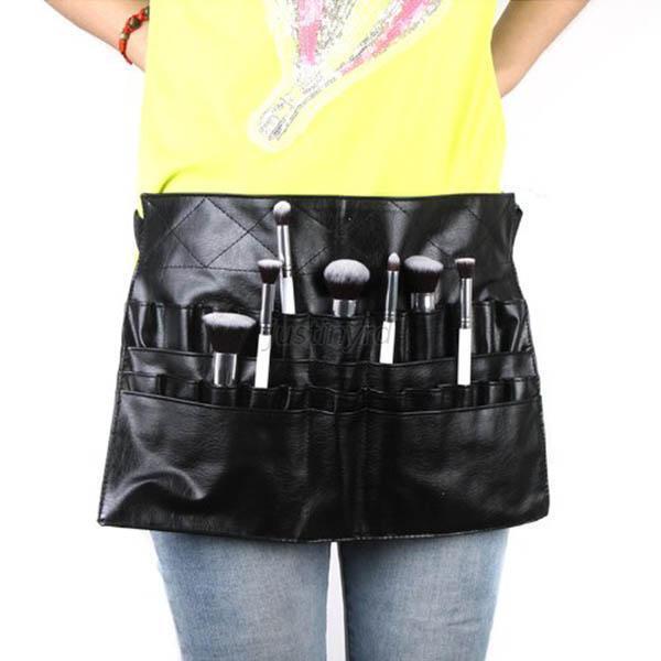 Portable PVC Makeup Brush Apron Bag Cosmetic Brush Belt Strap Holder Bag Fashion