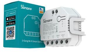 Interruttore Sonoff Dual R3 Smart Home con Cavo e Senza Cavo Bianco