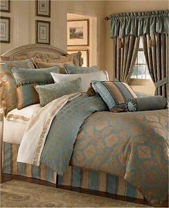 Waterford Reardan Turquoise Gold King Comforter Ebay