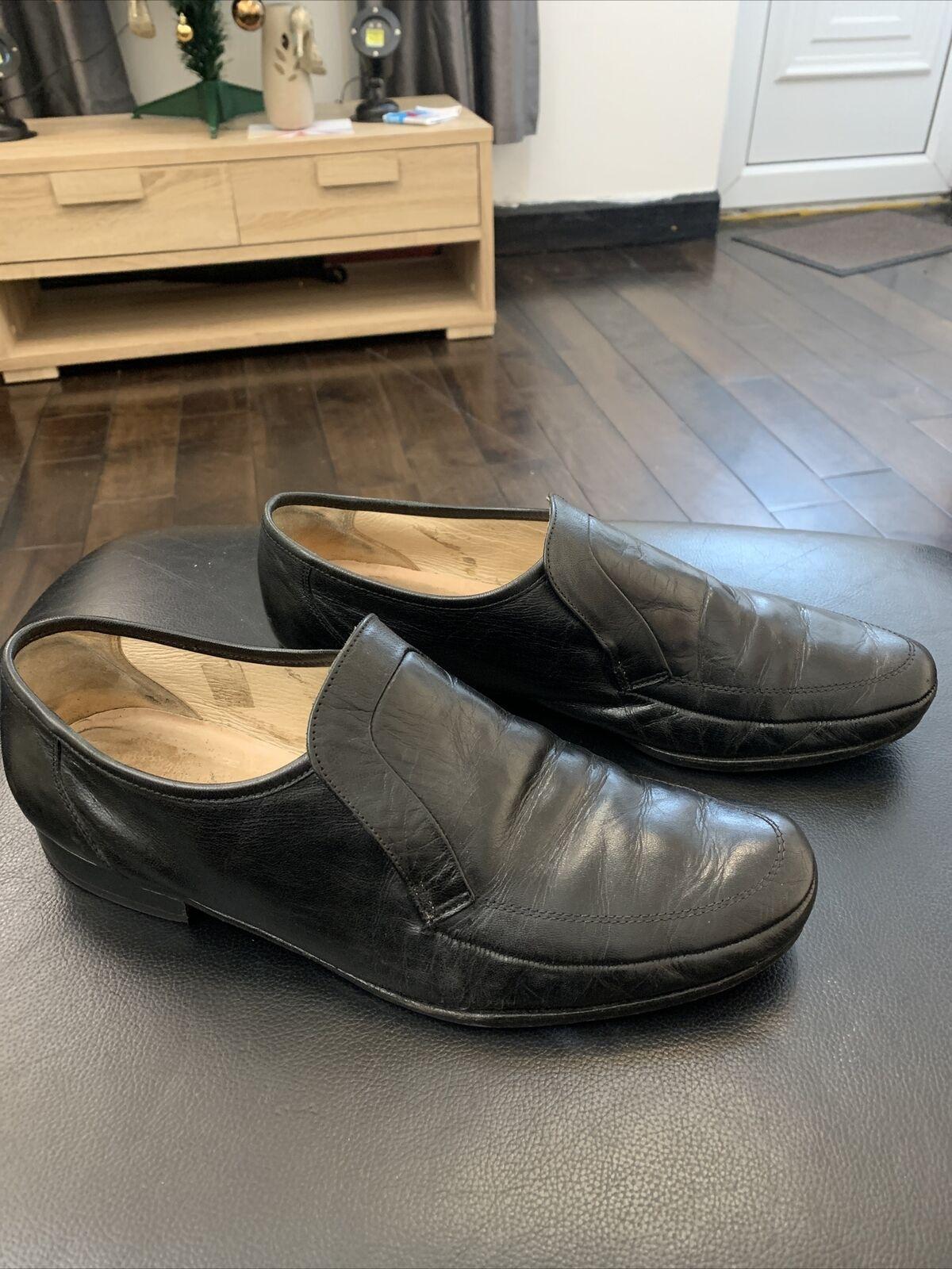 Mens Grenson Black Slip On Loafers Size UK 11 eu 45