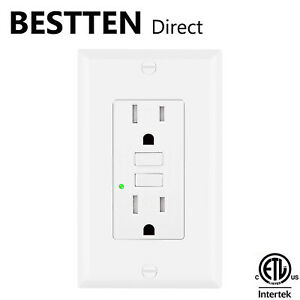BESTTEN-15A-Amp-GFCI-GFI-Tamper-Resistant-Safety-Outlet-Receptacle-w-LED-White