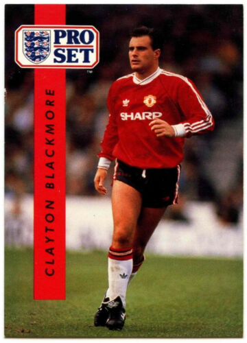 Clayton Blackmore Manchester Utd #143 Football Set Pro commerce 1990-1 carte C363