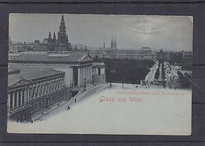 AK-Wien-Mondscheinkarte-Reichsrathsgebaeude-und-Franzensring-ungelaufen-ca-1900